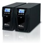 Onduleur Riello Vision 800 à 2000 VA. Facteur puissance 0,8 - Sortie sinusoïdale sur batterie - Emplacement carte communication