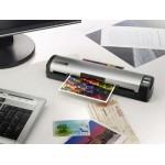 MobileOffice D412 Plustek - Scanner comptoir USB 12 ppm double face feuille-à-feuille à avalement autoalimenté et secteur