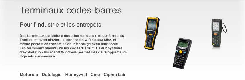 Terminaux code barre 1D/2D, tactiles, batch, radio